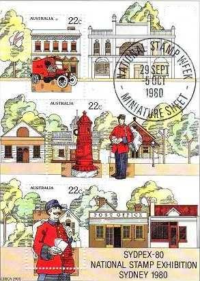 Australia 1980 Waltzing Matilda Murfett printers advertising bag for stamp